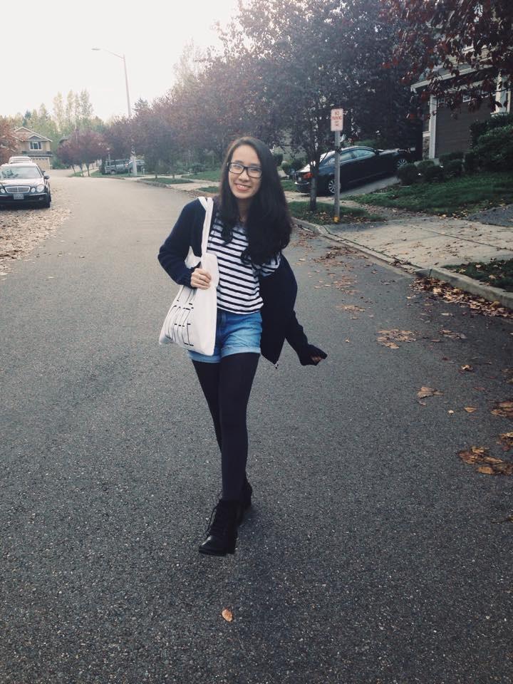 """Vưu Nguyễn Bảo Ngọc tham gia chương trình """"High School Completion"""" tại trường CĐCĐ Edmonds, 2014"""