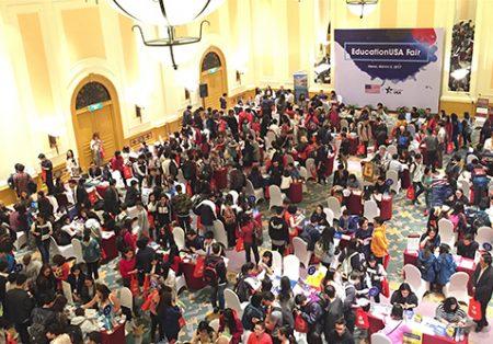 Triển lãm du học Mỹ 2018 do Đại sứ quán Mỹ tại Hà Nội tổ chức.