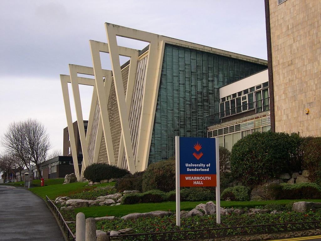Khu vực vào hội trường Wearmouth Hall tại trường Đại học Sunderland